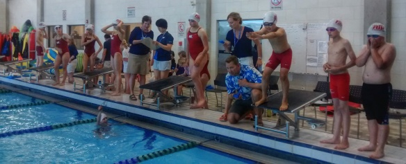 10&U medley relay club records broke at time trial
