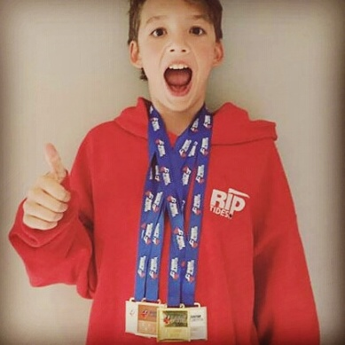 Anthony's medal haul from Alberta Age Group Trials