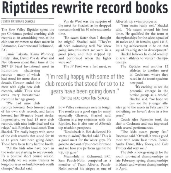 Riptides in the Outlook 2018-01-15